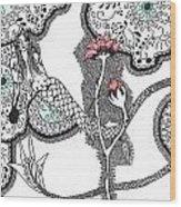 Rose Mermaid Wood Print