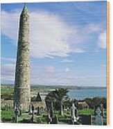 Round Tower, Ardmore, Co Waterford Wood Print