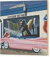 Route 66 Elvis Wood Print