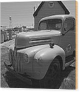 Route 66 Truck And Gas Station Wood Print