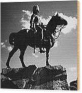 Royal Scots Greys Boer War Monument In Princes Street Gardens Edinburgh Scotland Uk United Kingdom Wood Print