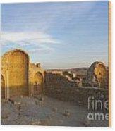 Ruins Of Shivta Byzantine Church Wood Print
