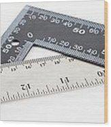 Rulers Wood Print
