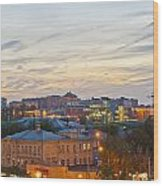 Russian City Night Wood Print
