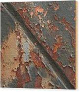 Rust II Wood Print