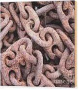 Rusty Chains Wood Print