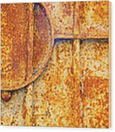 Rusty Gate Detail Wood Print