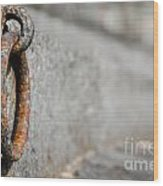 Rusty Ring Wood Print
