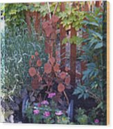 Rusty Rose Wood Print by JP Giarde
