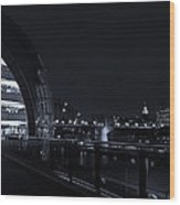 Sage Gateshead At Night Wood Print
