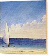 Sail On The Sea Wood Print