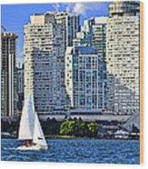 Sailing In Toronto Harbor Wood Print