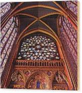 Saint Chapelle Wood Print