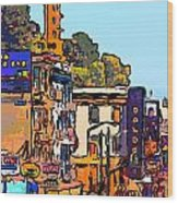 San Francisco Broadway Wood Print