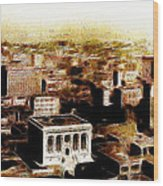 San Francisco Skyline Panorama 1909 From The Ferry Building Through South Of Market Wood Print by Wingsdomain Art and Photography