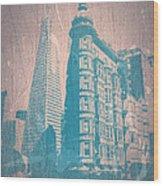 San Fransisco Wood Print by Naxart Studio