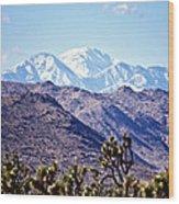San Gorgonio Mountains Wood Print