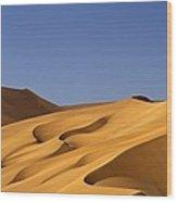 Sand Dune Against Clear Sky Wood Print