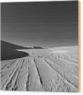 Sand Lines Wood Print