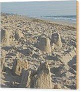 Sand Play Wood Print