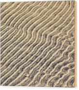Sand Ripples In Shallow Water Wood Print