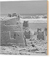 Sandcastle  Wood Print