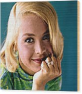Sandra Dee, Ca. Early 1960s Wood Print