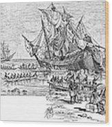 Santa Maria: Wreck, 1492 Wood Print by Granger