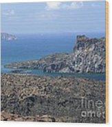 Santorini Volcano Wood Print