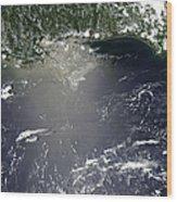 Satellite View Of Oil Leaking Wood Print by Stocktrek Images
