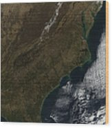 Satellite View Of The Southeastern Wood Print