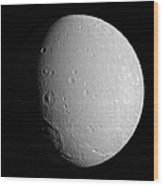 Saturns Moon Dione Wood Print