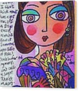 Scarlett O'hara Wood Print