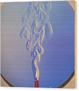 Schlieren Image Of A Candle Wood Print