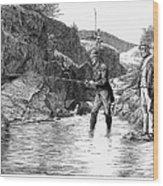 Scotland: Fishing, 1880 Wood Print