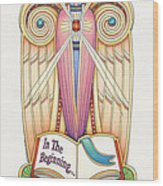 Scroll Angel - Ionica Wood Print by Amy S Turner