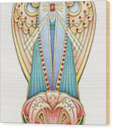 Scroll Angels - Lillium Wood Print by Amy S Turner