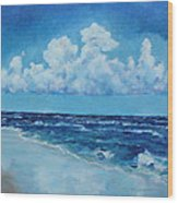 Sea And Sky Wood Print