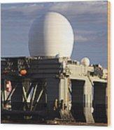 Sea Based X-band Radar Dome Modeled Wood Print