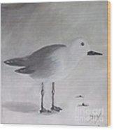 Seagull Wood Print by Debra Piro