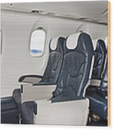Seats On An Airliner Wood Print by Jaak Nilson