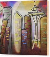 Seattle Wood Print by Melisa Meyers