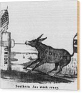 Secession Cartoon, 1861 Wood Print