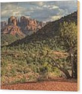 Sedona Red Rock  Wood Print