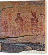 Sego Canyon Indian Petroglyphs And Pictographs Wood Print