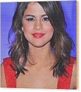 Selena Gomez At A Public Appearance Wood Print by Everett