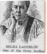 Selma Lagerlof (1858-1940) Wood Print