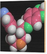 Seroxat (paroxetine) Molecule Wood Print