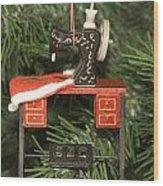 Sewing Machine Ornament Wood Print