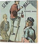 Sewing Machine Trade Card Wood Print by Granger